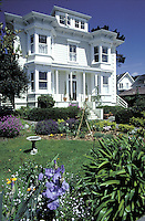 A victorian Bed and Breakfast inn on Blair Street in Mendocino, California