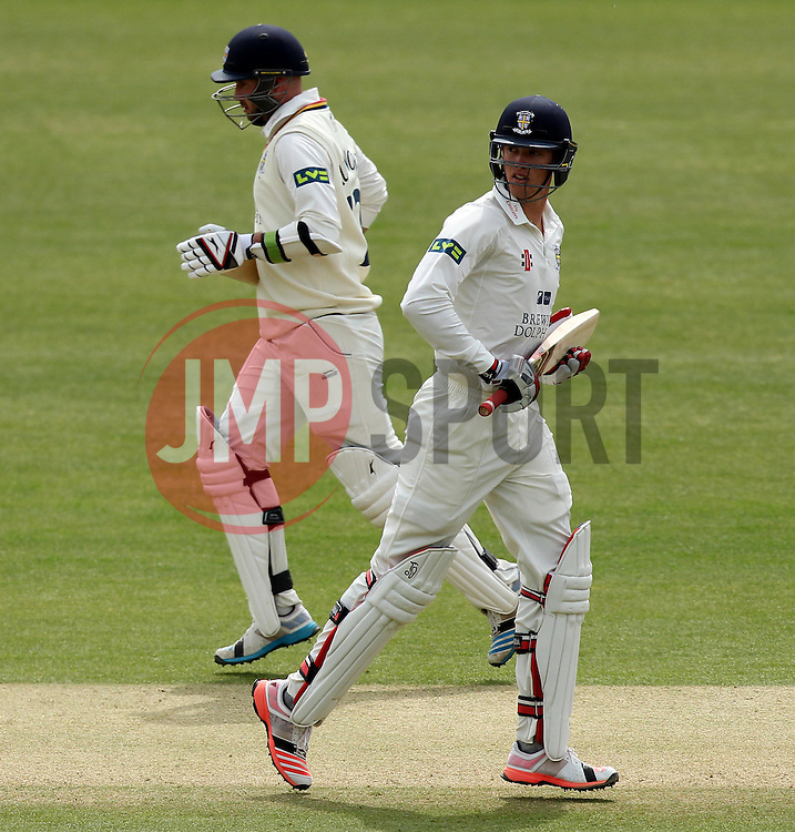 Durham's Keaton Jennings and Durham's Chris Rushworth - Photo mandatory by-line: Robbie Stephenson/JMP - Mobile: 07966 386802 - 04/05/2015 - SPORT - Football - London - Lords  - Middlesex CCC v Durham CCC - County Championship Division One