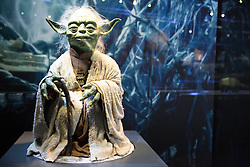 EDITORIAL USE ONLY<br /> Yoda goes on display at The STAR WARS Identities: The Exhibition at The O2 in London, which features over 200 props, models, costumes and artwork from the original films.