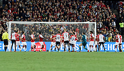 July 15, 2017 - Sydney, New South Wales, Australia - Wanderers player, Steven Lustica scores a goal from an indirect free kick..FA Cup Champions Arsenal wins 3-1 over Western Sydney Wanderers FC at ANZ Stadium. (Credit Image: © United Images/Pacific Press via ZUMA Wire)