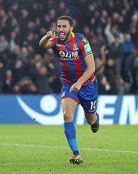 Crystal Palace's Andros Townsend celebrates scoring his side's first goal during the Premier League match at Selhurst Park, London, Thursday 28th December 2017