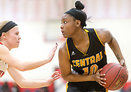 Kirkwood's Olivia Giardino (L) guards Hazelwood Central's Sydney Dukes during a girls quarterfinal basketball game of the 44th annual Visitation Christmas Tournament  on Wednesday, Dec. 26, 2018, at Visitation Academy in Town & Country, Mo.  Gordon Radford   Special to STLhighschoolsports.com