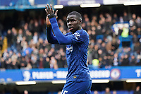 Chelsea's Kurt Zouma applauds the fans at the final whistle <br /> <br /> Photographer Stephanie Meek/CameraSport<br /> <br /> The Premier League - Chelsea v Everton - Sunday 8th March 2020 - Stamford Bridge - London<br /> <br /> World Copyright © 2020 CameraSport. All rights reserved. 43 Linden Ave. Countesthorpe. Leicester. England. LE8 5PG - Tel: +44 (0) 116 277 4147 - admin@camerasport.com - www.camerasport.com