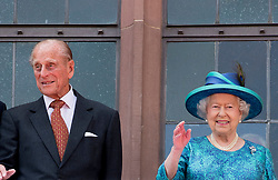 Buckingham Palace has announced Prince Philip, The Duke of Edinburgh, has passed away age 99 - FILE - Britain's Queen Elizabeth II and her husband Prince Philip, The Duke of Edinburgh with German President Joachim Gauck (R) and partner of the German President Daniela Schadt (L) as they arrive at balcony in Frankfort, Germany on June 25, 2015. Photo by Robin Utrecht/ABACAPRESS.COM