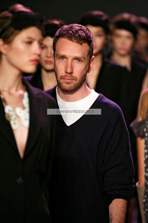 Alexandre Herchcovitch, designer of the Alexandre Herchcovitch Fall 2009 collection