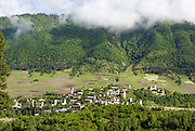 Georgia, Svaneti Region, Rural village