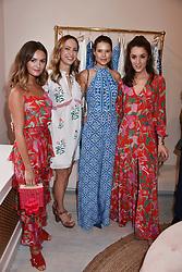 Niomi Smart, Lavinia Brennan, Sarah Ann Macklin and Rosanna Falconer at the launch of the Beulah Flagship store, 77 Elizabeth Street, London England. 16 May 2018.
