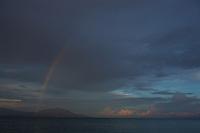 Rainbow at sunrise near Foli Village, Halmahera.