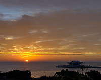 Sunrise over Tampa Bay from the Vinoy Hotel in St. Petersburg, Florida. Image taken with a Nikon D2xs camera and 14-28 mm f/2.8 len (ISO 100, 20 mm, f/11, 1/60 sec).