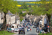 The High Street in the popular country town of Burford in the Cotswolds, Oxfordshire, UK