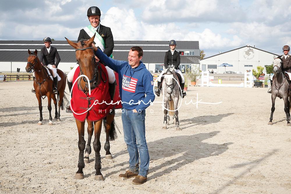 Vinckx Wim (BEL) - Jasmijn van de Renthoeve<br /> SBB Competitie Jonge Paarden - Nationaal Kampioenschap - Kieldrecht 2014<br /> © Dirk Caremans