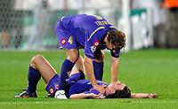 Fotball<br /> Italia<br /> Foto: Inside/Digitalsport<br /> NORWAY ONLY<br /> <br /> Esultanza di Marco DONADEL and Riccardo MONTOLIVO<br /> <br /> 29.09.2009<br /> Fiorentina v Liverpool<br /> Champions League 2009/2010