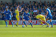AFC Wimbledon midfielder Anthony Hartigan (8) dribbling during the EFL Sky Bet League 1 match between AFC Wimbledon and Bristol Rovers at the Cherry Red Records Stadium, Kingston, England on 19 April 2019.