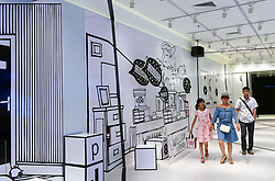 August 21, 2017 - Shenyan, Shenyan, China - Shenyang, CHINA-21st August 2017: (EDITORIAL USE ONLY. CHINA OUT)..The 100-meter-long corridor of three-dimensional art can be seen at a shopping mall in Shenyang, northeast China's Liaoning Province, August 21st, 2017. (Credit Image: © SIPA Asia via ZUMA Wire)