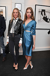 Left to right, ALICE NAYLOR-LEYLAND and ANOUSHKA BECKWITH at a private view of an exhibition of photographs by Mike Figgis entitled 'Kate & Other Women' held at The Little Black Gallery, 13 A Park Walk, London SW10 on 22nd June 2011.