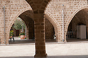 The courtyard of the Muhamidiya Mosque (Great Mosque) situated Between Yefet Street and the sea, Jaffa, Israel