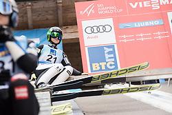 February 8, 2019 - Ljubno, Savinjska, Slovenia - Spela Rogelj of Slovenia on first competition day of the FIS Ski Jumping World Cup Ladies Ljubno on February 8, 2019 in Ljubno, Slovenia. (Credit Image: © Rok Rakun/Pacific Press via ZUMA Wire)
