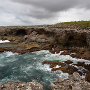 Rock formation and caves on the North Coast of Barbados adjacent to Animal Flower Cave in St Lucy Parish