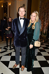 TOM & ALICE NAYLOR-LEYLAND at a party to celebrate theunveiling of the Claridge's Christmas Tree designed by Christopher Bailey for Burberryheld at Claridge's, Brook Street, London on 18th November 2015.