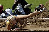 Friidrett<br /> VM 2005 Helsinki<br /> Foto: Dppi/Digitalsport<br /> NORWAY ONLY<br /> <br /> ATHLETICS - IAAF WORLD CHAMPIONSHIPS 2005 - HELSINKI (FIN) - 7/08/2005<br /> <br /> HEPTATHLON - LONG JUMP - CAROLINA KLÜFT (SWE)