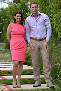 © Licensed to London News Pictures. 02/07/2012. East Molesey, UK Dr Dawn harper and Dr Christian Jessen from Channel Four Embarrassing bodies TV programme. The RHS Hampton Court Palace Flower Show 2012. The show runs 3-8 July, 2012. Photo credit : Stephen Simpson/LNP