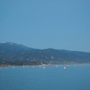 Panoramic view of bay. Santa barbara, CA.