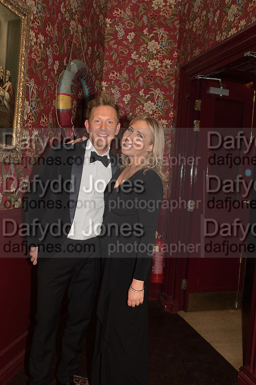 HARRY SCOFIELD WITH HIS SISTER LEONORA SCOFIELD, Fraser Carruthers  and Harry Scofield birthday. Archie's club, 92b Old Brompton Rd. London. 11 February 2017