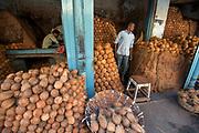 Coconuts, central market, Mysore/Mysuru, Karnataka