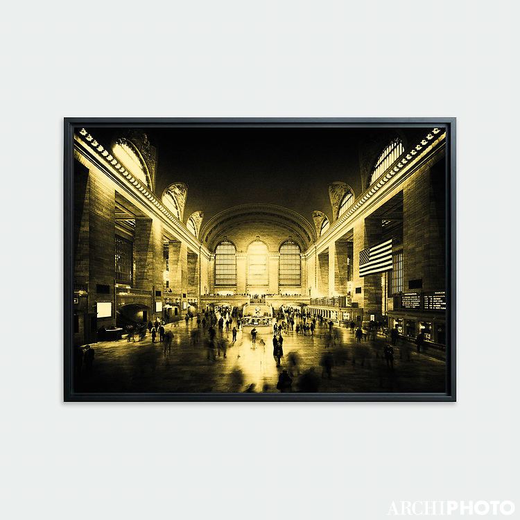 Grand Central Terminal, New York • Original photographic work by Antoine Duhamel • Direct print on brushed brass.