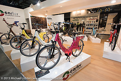 The Carter electric assist bicycle on display at EICMA, the largest international motorcycle exhibition in the world. Milan, Italy. November 20, 2015.  Photography ©2015 Michael Lichter.