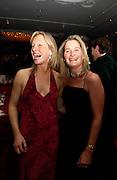 Mrs. Angus ( Dede)  gold and Mrs Edward ( Becky) Dunlop, Cartier Racing Awards 2003. four Seasons hotel, 12 November 2003. © Copyright Photograph by Dafydd Jones 66 Stockwell Park Rd. London SW9 0DA Tel 020 7733 0108 www.dafjones.com