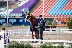 Belmonte Roldan Cristobal, ESP, Diavolo II de Laubry<br /> Training dressage<br /> European Championships Göteborg 2017<br /> © Hippo Foto - Stefan Lafrenz
