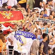 MEADOWLANDS, NEW JERSEY- August 7:   Real Madrid supporters during the Real Madrid vs AS Roma International Champions Cup match at MetLife Stadium on August 7, 2018 in Meadowlands, New Jersey. (Photo by Tim Clayton/Corbis via Getty Images)