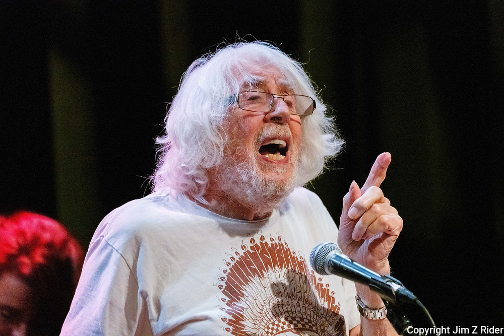 At 87, JOHN  MAYALL is still on tour, performing here at the Sellersville Theatre, Sellersville, PA.  In a music career that spans over 60 years, Mayall is the founder of John Mayall & the Bluesbreakers.  His occasional forgetfulness only endeared him to most of the crowd, who was similar in age.  His legendary status in the blues world was evident, however, in the number of young people in the crowd.