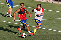 Spanish Lucas Vazquez and Juan Mata during the first training of the concentration of Spanish football team at Ciudad del Futbol de Las Rozas before the qualifying for the Russia world cup in 2017 August 29, 2016. (ALTERPHOTOS/Rodrigo Jimenez)