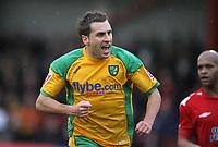 Photo: Rich Eaton.<br /> <br /> Tamworth FC v Norwich City. The FA Cup. 06/01/2007. Darren Huckerby of \norwich celebrates his first half goal to make the score 2-0