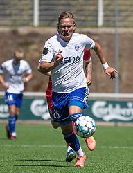 Frederik Krabbe (HIK) under træningskampen mellem FC Helsingør og HIK den 1. august 2020 på Helsingør Ny Stadion (Foto: Claus Birch).