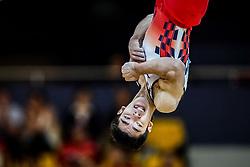 November 2, 2018 - Doha, Qatar - Kenzo Shirai of Japan   during  Floor for Men at the Aspire Dome in Doha, Qatar, Artistic FIG Gymnastics World Championships on 2 of November 2018. (Credit Image: © Ulrik Pedersen/NurPhoto via ZUMA Press)