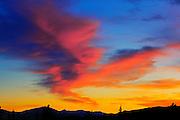 Blazing sky after storm <br /> near Whitehorse<br /> Yukon<br /> Canada