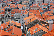 Red tiled roofs, Dubrovnik old town, Croatia