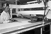 28/05/1962<br /> 05/28/1962<br /> 28 May 1962<br /> Fry-Cadbury factory on the Malahide Road, Dublin. Picture shows  mint filled centres moved by machine to the main production line.
