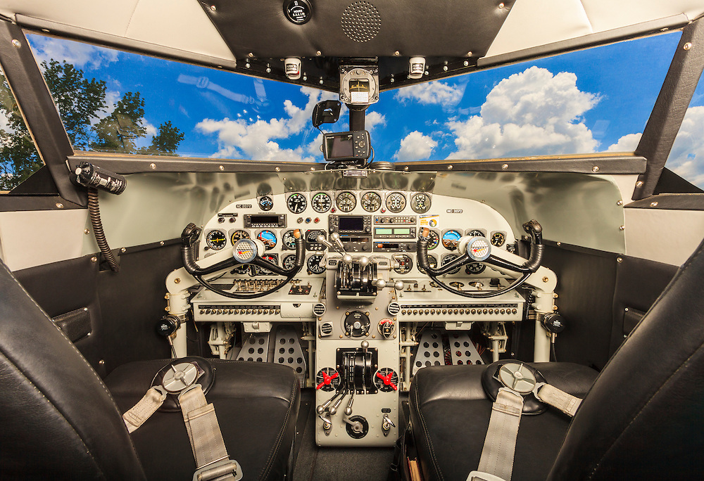The panel of Joe Shepherd's fully restored Lockheed 12A Electra Junior.