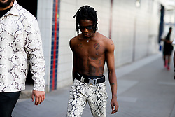 Street style, Ian Connor arriving at Alyx Spring-Summer 2019 menswear show held at Bercy Popb, in Paris, France, on June 24th, 2018. Photo by Marie-Paola Bertrand-Hillion/ABACAPRESS.COM