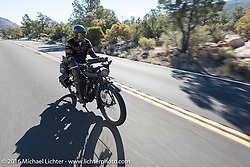 Shinya Kimura riding his 1915 Indian on the last day of the Motorcycle Cannonball Race of the Century. Stage-15 ride from Palm Desert, CA to Carlsbad, CA. USA. Sunday September 25, 2016. Photography ©2016 Michael Lichter.