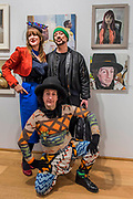 Philip Sallon painted by Clare McAuley (both pictured) with Boy George - The Royal Society of Portrait Painters Annual Exhibition at the Mall Galleries. It includes over 200 portraits by over 100 artists.