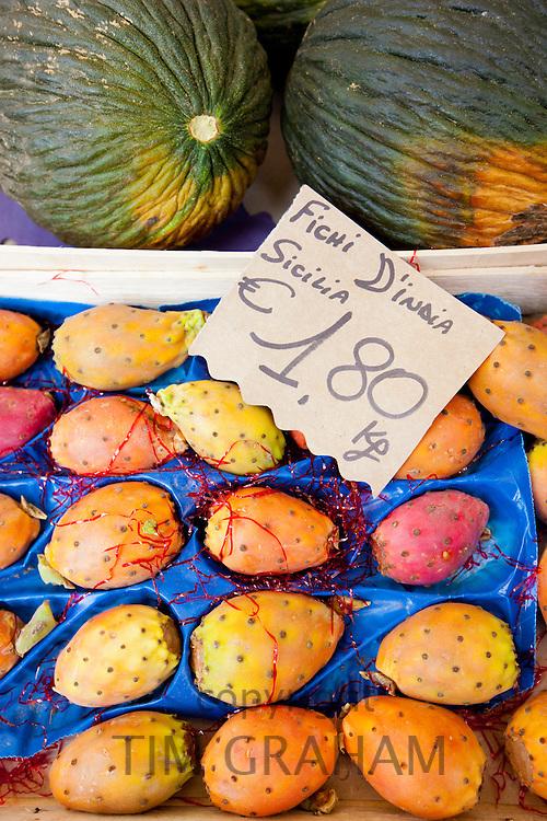 Fresh fruit at weekly street market in Panzano-in-Chianti, Tuscany, Italy