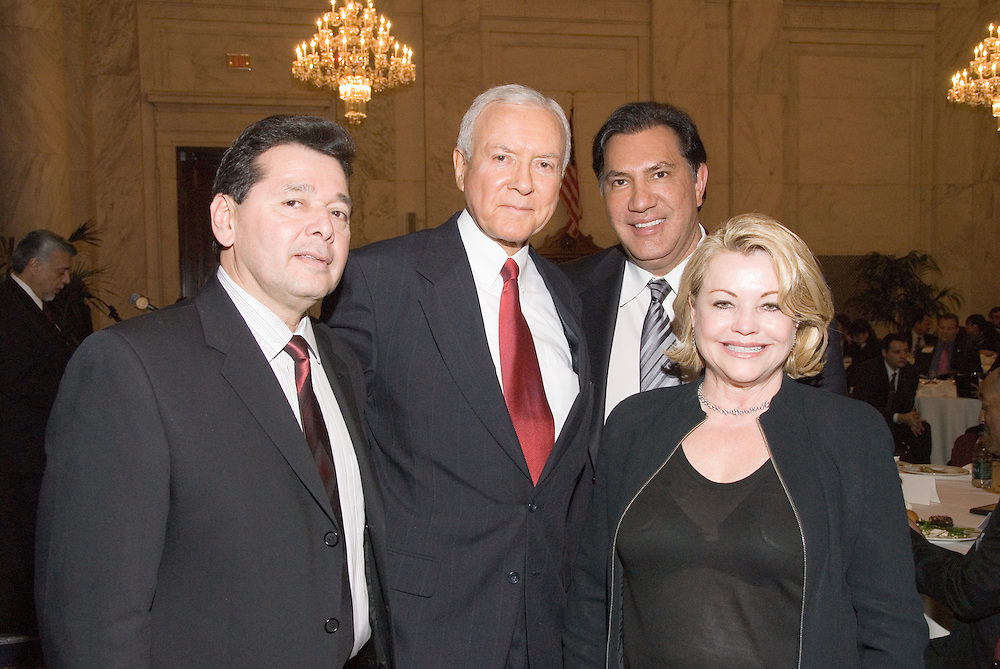 Senator Orin Hatch (R-UT) with USHCC Board Members Stephen Gutierrez, Dr. Gil Garbiso andUSHCC Vice-Chair Elizabeth Gallagherat the Luncheon on the Hill during the United States Hispanic Chamber of Commerce's 19th Annual Legislative Conference, in Washington, DC, Wednesday, March 11, 2009.