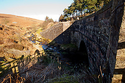 Cutthroat Bridge.The Peak District in early Spring on the path from Derwent Edge to Cut Throat Bridge behind the Ladybower Pub..http://www.pauldaviddrabble.co.uk.11 March 2012 .Image © Paul David Drabble