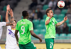 Leon Benko of NK Olimpija during 1st Leg football match between NK Olimpija Ljubljana and NK Maribor in Semifinal of Slovenian Football Cup 2016/17, on April 5, 2017 in SRC Stozice, Ljubljana, Slovenia. Photo by Vid Ponikvar / Sportida