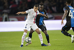 MBAPPE LOTTIN Kylian from PSG and Odilon KOSSONOU from BRUGES In action during the UEFA Champions League Group A football match Paris Saint-Germain (PSG) v Club Brugge at the Parc des Princes stadium in Paris, France, on November 6, 2019. Photo by Loic BaratouxABACAPRESS.COM